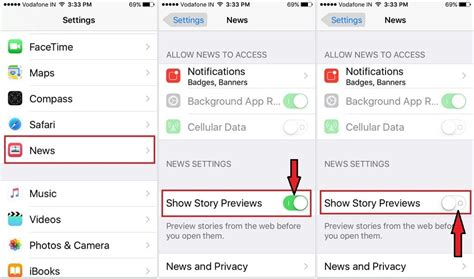 how to enable a disabled iphone how to disable enable story previews in news app on iphone