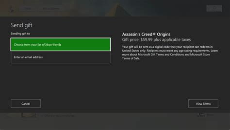 xbox one can now give gifts right in microsoft store xbox