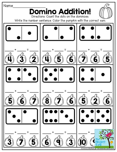 domino addition and tons of other printables for