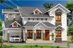 Indian Keralahomedesign Roof House;2D Elevation