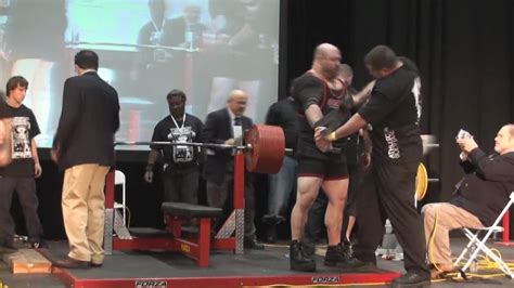 Scot Mendelson 1081 Lb Bench Press Attempt #1 12310