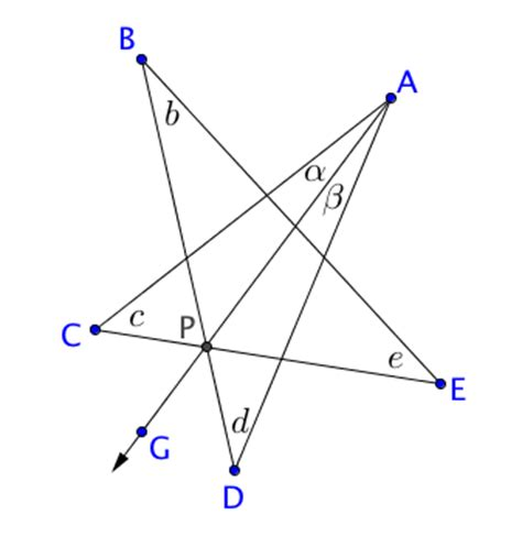 star polygon angle sum  proof proofs   book