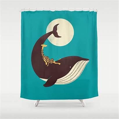 Shower Whale Curtain Giraffe Society6