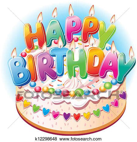 torta clipart clip torta compleanno k12298648 cerca clipart