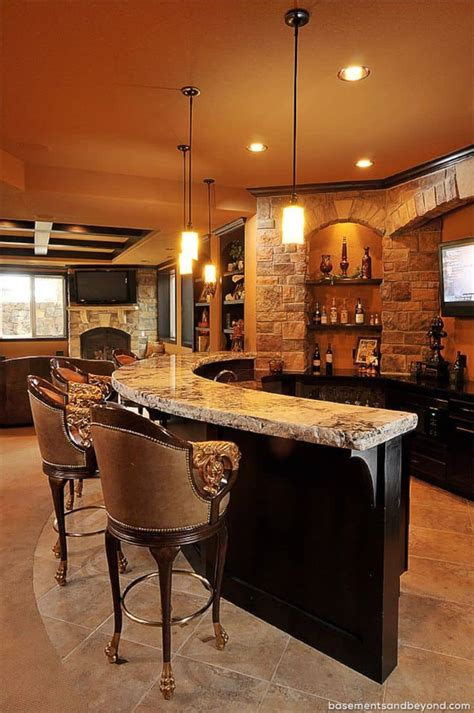Basement Bar Ideas 52 splendid home bar ideas to match your entertaining