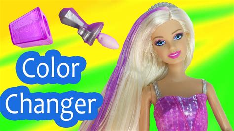 Barbie Color Change Makeup Color Me Glam Hair Frozen Ice