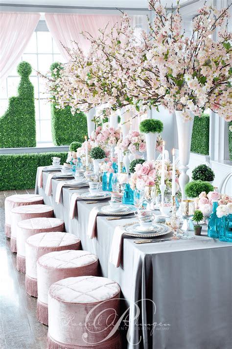 cherry blossom wedding flowers head table toronto