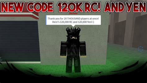 New Code! 120k Rc And 120k Yen!