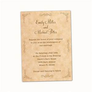 100 personalized wedding invitation cards vintage rustic With cost of wedding invitations for 100