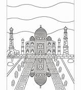 Taj Mahal Coloring Adults Coloriages Adultes Pour Colorish Coloringpage Goodsofttech sketch template
