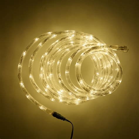 5m warm white led connectable rope light type u