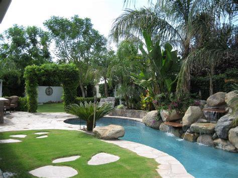 backyard tropical ideas tropical backyard landscaping ideas home design elements