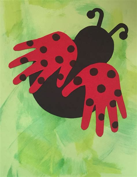 ladybug handprints for cover of preschool memory books 2 515 | 9fdfc7682a7df032dcd93c44f9162c46