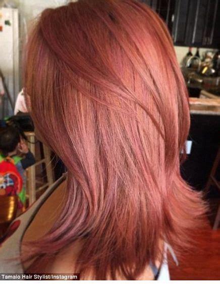 adorable rose gold hair color ideas highpe