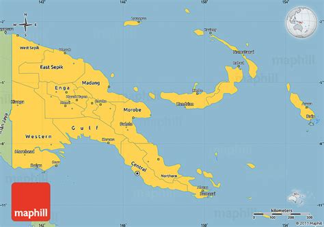 map  papua  guinea city city maps