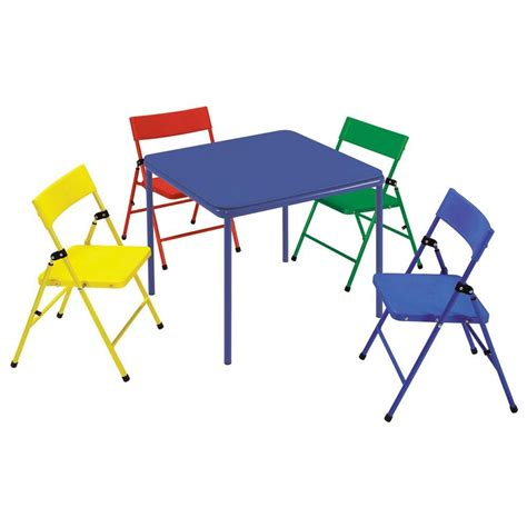 cosco mahogany folding table and chairs cosco 24 in x 24 in kid s folding chair and table set in