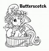 Coloring Horse Butterscotch Pony Drawing Cartoon Mlparena Adult Kitty sketch template