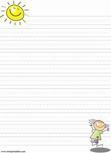 Free printable writing pages for kids printable lined for Learning to write paper template