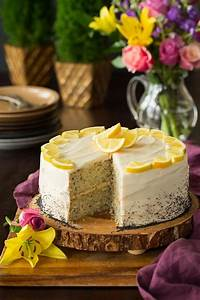 Lemon Poppy Seed Cake with Cream Cheese Frosting - Cooking ...