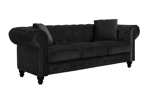 Velvet Tufted Sofa by Classic Velvet Sofa Scroll Arm Tufted Button Chesterfield