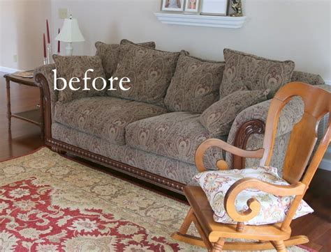 updating  dated sofa home staging trick