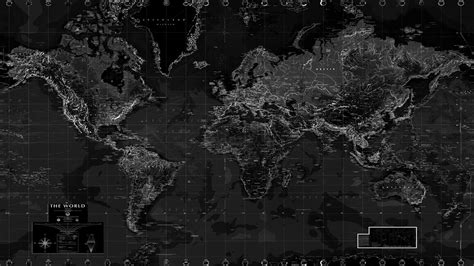 Black and White World Map Wall Mural - Rand McNally Store