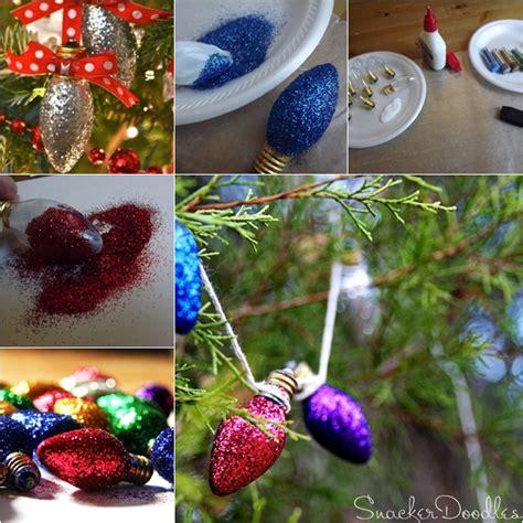 wonderful diy glitter light bulb ornaments  christmas