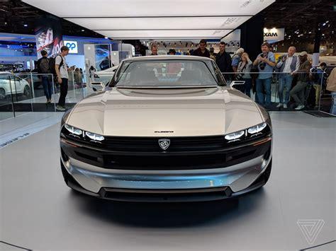 Peugeot Car : Peugeot's E-legend Concept Is A Muscle Car For The