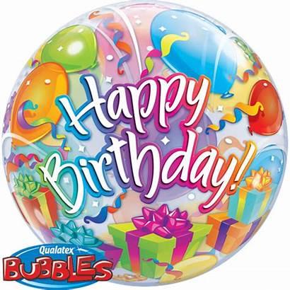 Birthday Happy Bubble Geburtstag Luftballons Bubbles Geschenke