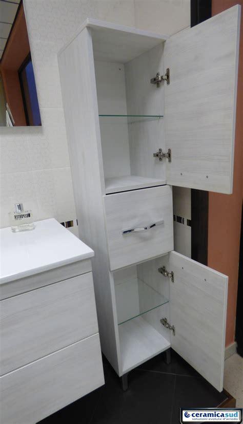 Offerta Mobile Bagno Sospeso 100 Cm Con Colonna In Rovere