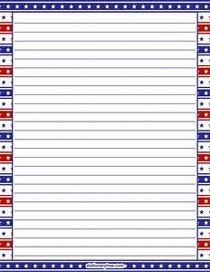 printable patriotic stationery With stationary for military letters