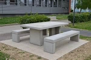 Table En Béton Ciré : table en beton exterieur ~ Premium-room.com Idées de Décoration