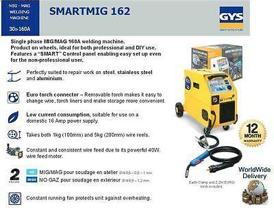 gys smartmig 162 gys smart mig 162 mig mag welding 160a 06 1mm wire single