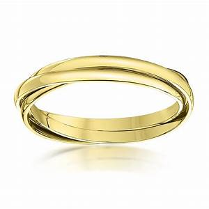 9kt yellow gold 2mm russian wedding ring With gold russian wedding ring