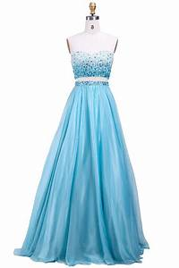 a line sweetheart two piece long turquoise chiffon ombre With robe de soirée bleu turquoise