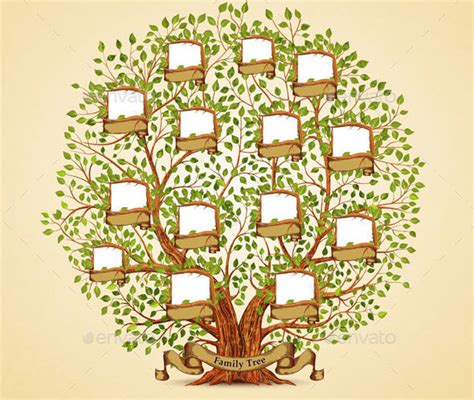 cool family tree illustration vectors desiznworld