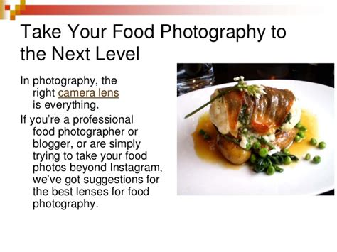 lenses  food photography
