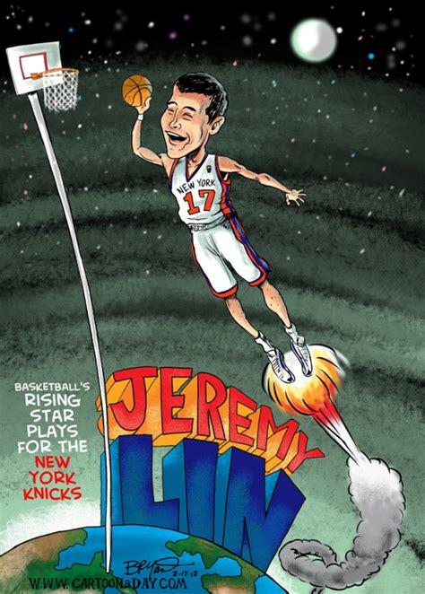 cartoon jeremy lin basketballs rising star cartoon