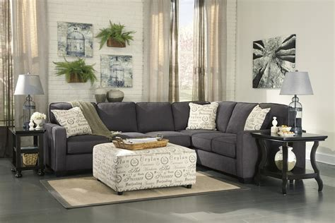 Sectional Sofas With Ottoman by Furniture Alenya Sectional 16601 Grey Track Arm