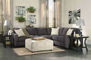 ashley furniture alenya sectional 16601 grey track arm With small sectional sofa san diego