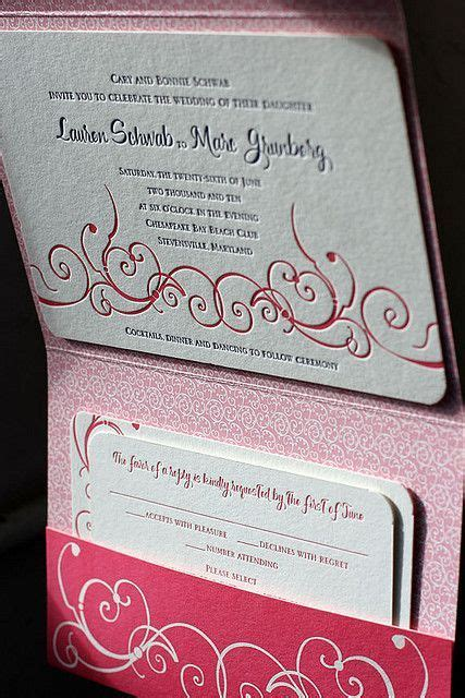 i like these pocket invitations make it easy to include