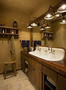 salle de bain rustique 100 idees deco salle de bain With meuble salle de bain rustique