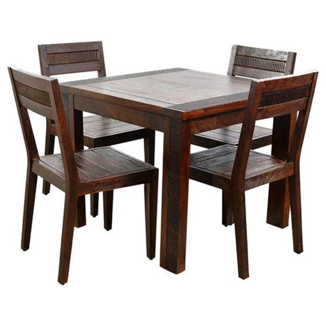 solid wood dining room sets ethnic india athens 4 seater sheesham wood dining set