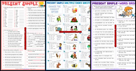 esl printable grammar worksheets  exercises