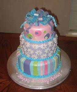 Two Tiers Were White Almond Sour Cream Cake With
