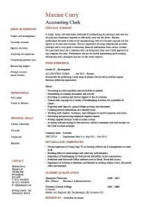 resume exle entry level accounting clerk positions in minecraft accounting clerk resume sle exle job description accountant wages payroll career history