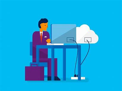 Microsoft Office Azure Animated Cloud Software Animation
