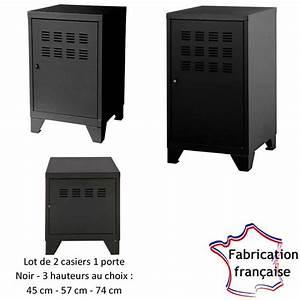 Petit Casier Metal : lot de 2 casiers m tal bas noir so french deco ~ Teatrodelosmanantiales.com Idées de Décoration