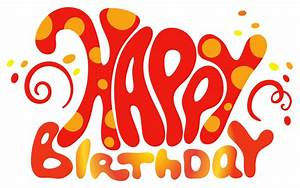 Red Cute Happy Birthday Text PNG Clipart | Birthday ...