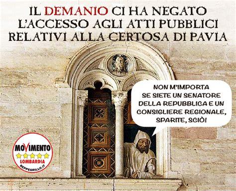 Iperdi Pavia by Demanio Niente Atti Sulla Certosa Di Pavia Al Movimento 5